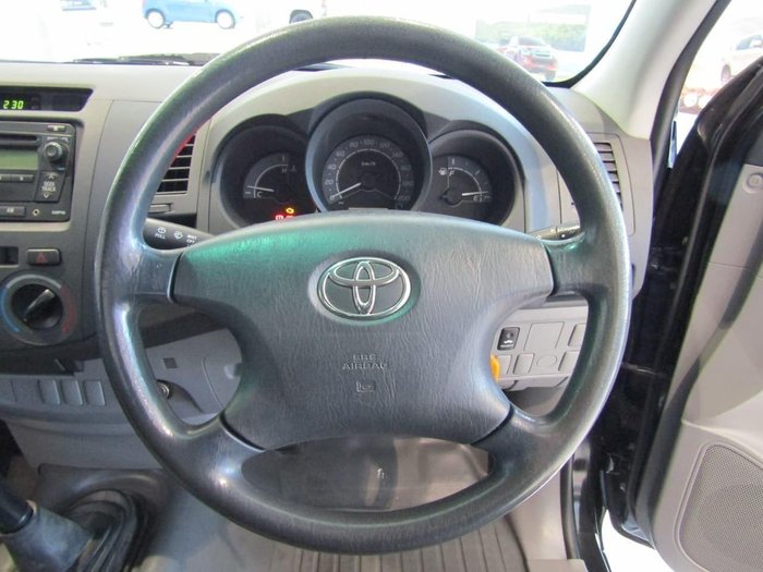 2008 Toyota Hilux Workmate TGN16R MY08 Black