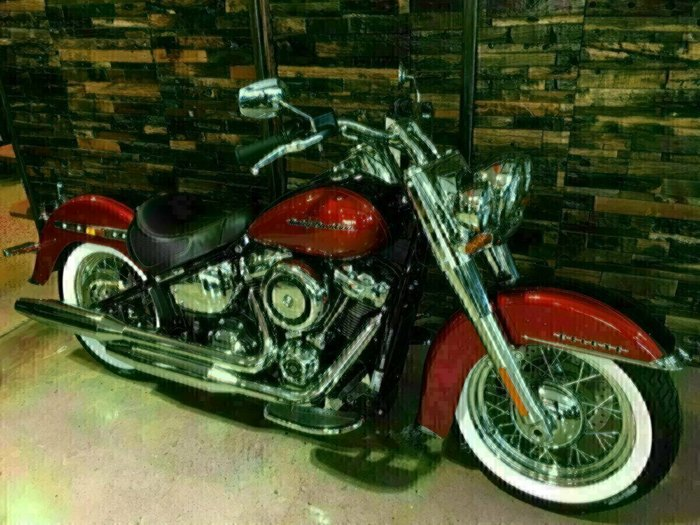 2019 Harley-Davidson FLDE DELUXE (107) (TT) Wicked Red / Twisted Cherry