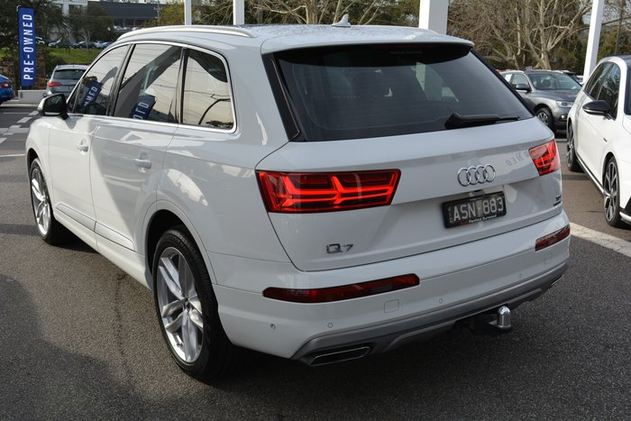 2017 Audi Q7 TDI 4M MY18 Four Wheel Drive White
