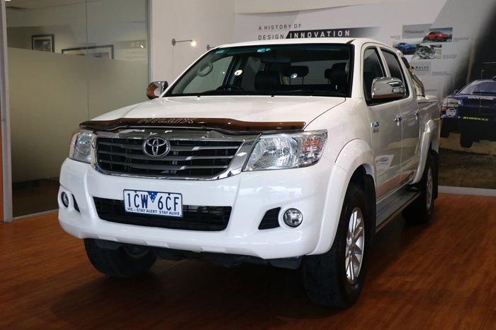 2013 Toyota Hilux SR5 GGN25R MY12 4X4 White