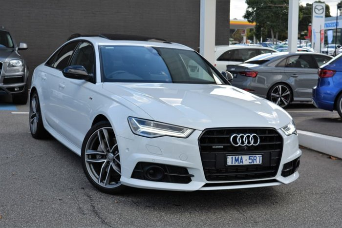 2017 Audi A6 Black Edition C7 MY18 Four Wheel Drive White