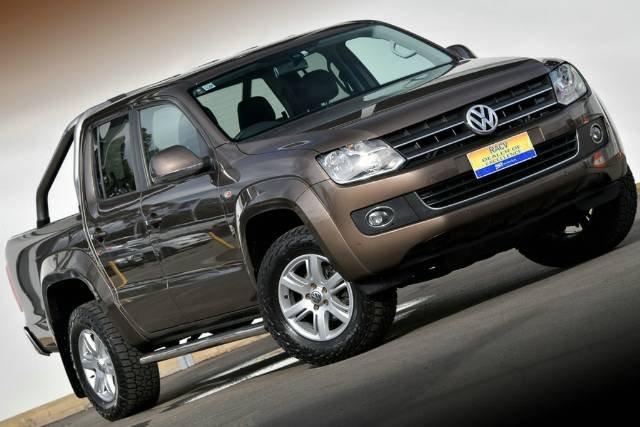 2014 Volkswagen Amarok TDI420 Highline 2H MY15 4X4 Constant TOFFEE BROWN