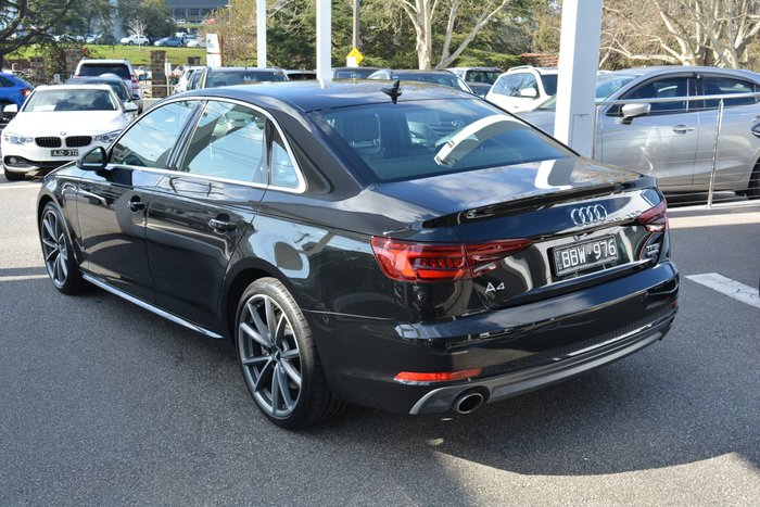 2018 Audi A4 S line B9 MY18 Four Wheel Drive Black