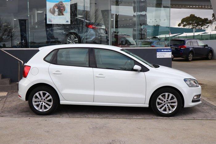 2015 Volkswagen Polo 81TSI Comfortline 6R MY15 White