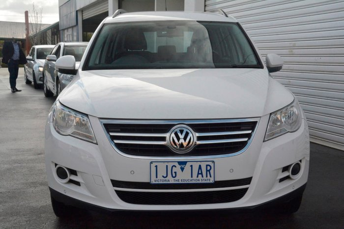 2011 Volkswagen Tiguan 125TSI 5N MY11 Four Wheel Drive White