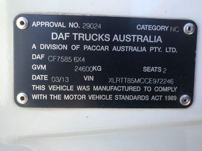 2013 DAF CF 75 Series CF 75 PRIME MOVER WHITE