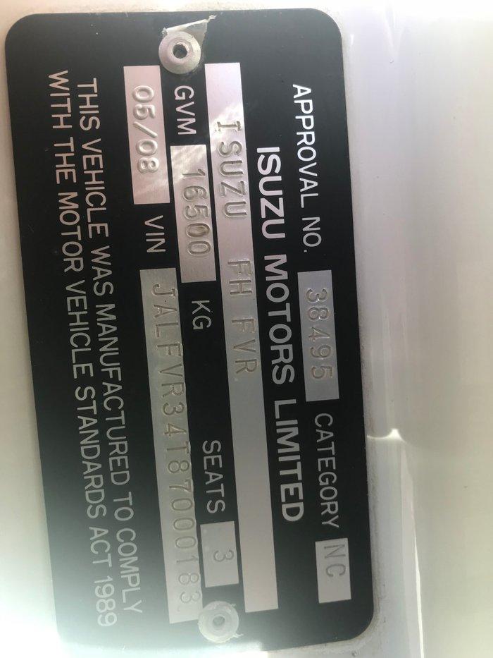 2008 Isuzu FVD1000 FVD1000 CRANE / TABLETOP WHITE