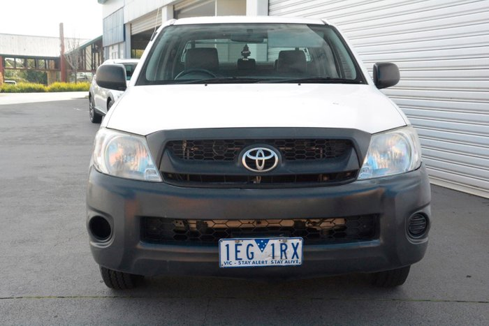 2011 Toyota Hilux Workmate TGN16R MY10 White