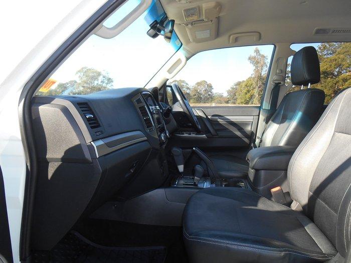 2014 Mitsubishi Pajero GLS NX MY15 4X4 Dual Range White