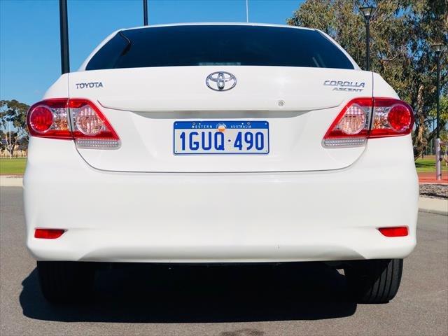 2013 Toyota Corolla Ascent ZRE152R WHITE