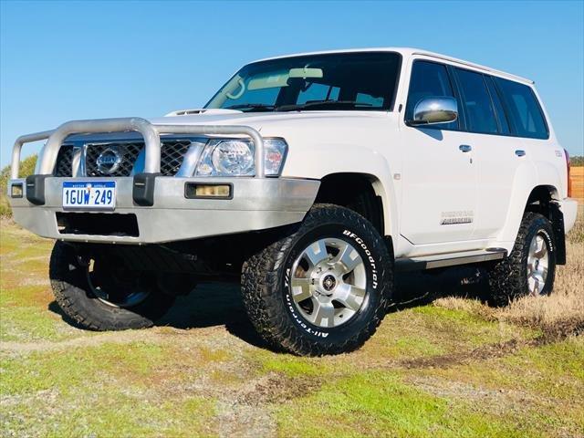 2012 Nissan Patrol ST GU 7 MY10 4X4 Dual Range WHITE