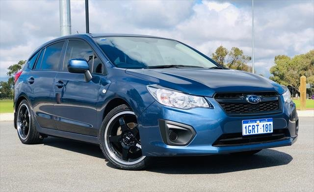 2013 Subaru Impreza 2.0i G4 MY13 Four Wheel Drive BLUE