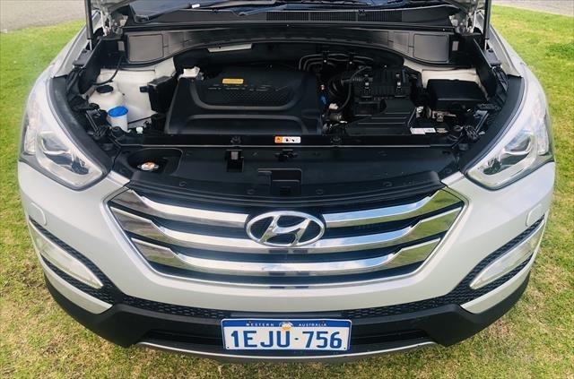 2013 Hyundai Santa Fe Highlander DM MY13 4X4 On Demand SILVER