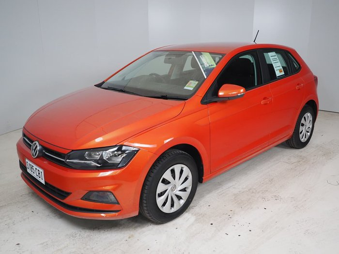 2019 Volkswagen Polo 70TSI Trendline AW MY19 Orange