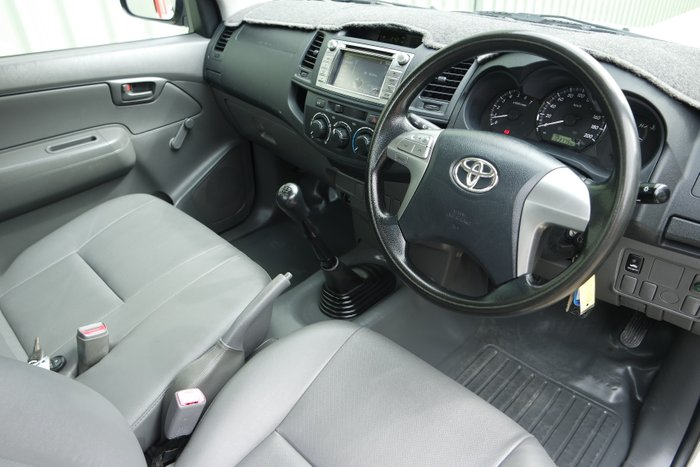 2013 Toyota Hilux Workmate TGN16R MY12 SILVER