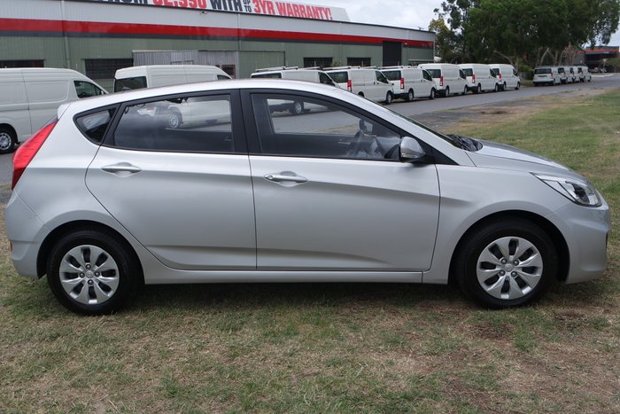 2017 Hyundai Accent Active RB4 MY17 SILVER