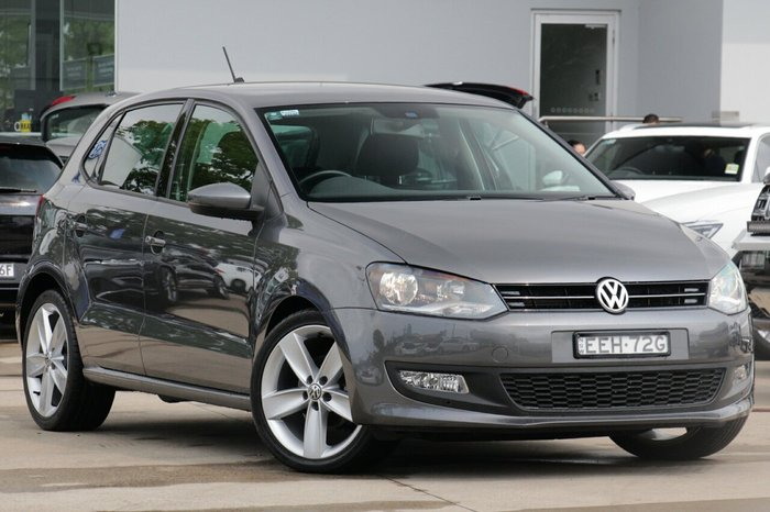 2013 Volkswagen Polo 77TSI Comfortline 6R MY13.5 Pepper Grey Metallic