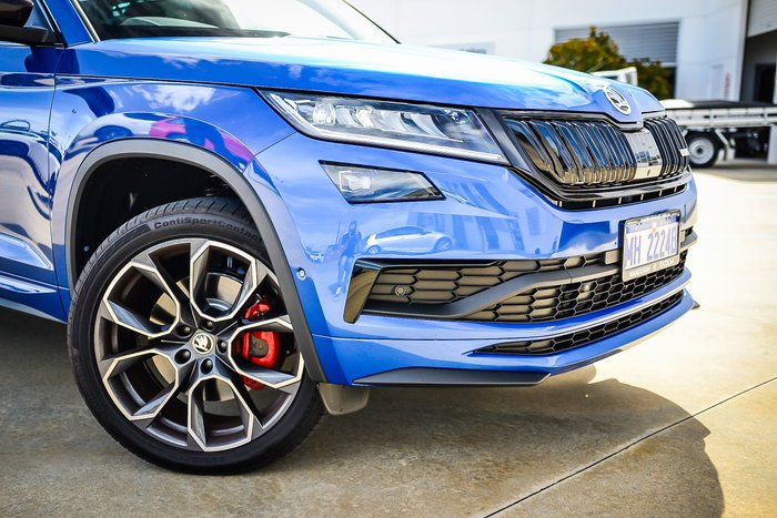 2020 Skoda Kodiaq RS 4x4 176 TDI 2.0L T/D 7Spd DSG Wgn MY20 4WD Race Blue Metallic