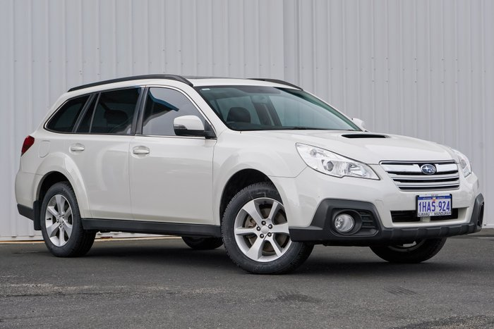 2013 Subaru Outback 2.0D Premium 4GEN MY13 Four Wheel Drive WHITE