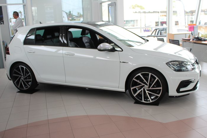 2020 Volkswagen Golf R 2.0L T/P 7Spd DSG 5Dr Hatch MY20 4WD Pure White