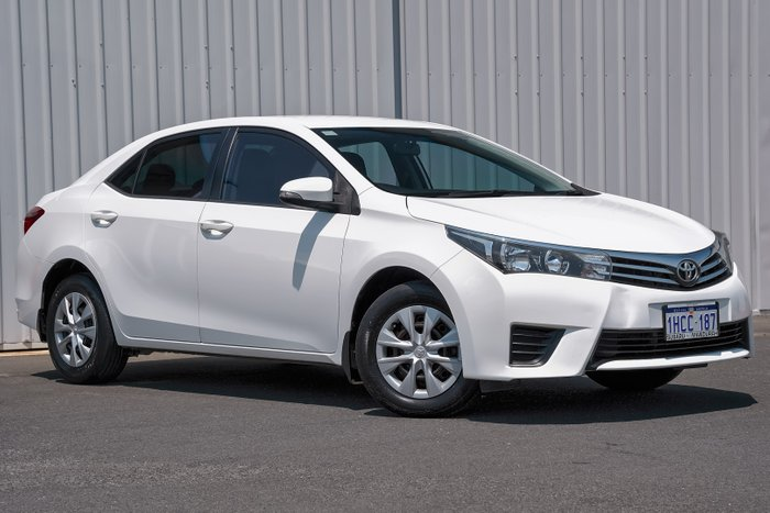 2015 Toyota Corolla Ascent ZRE172R WHITE