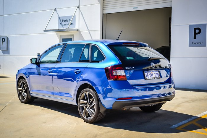 2019 Skoda Rapid Runout 92TSI 1.4L 7Spd DSG Hatch MY19 Race Blue Metallic