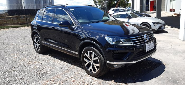 2017 Volkswagen Touareg Monochrome 7P MY18 Four Wheel Drive BLACK
