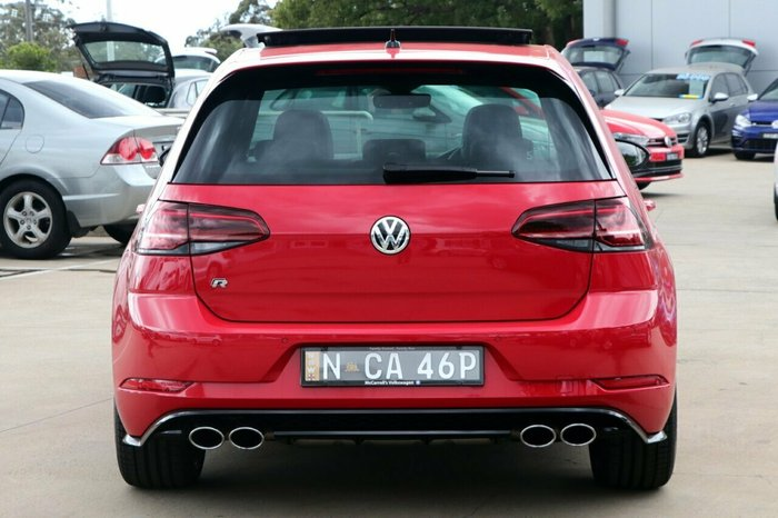 2019 Volkswagen Golf R 2.0L T/P 7Spd DSG 5Dr Hatch MY20 4WD Tornado Red