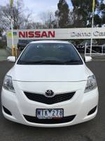 2008 Toyota Yaris YRS NCP93R MY09 WHITE