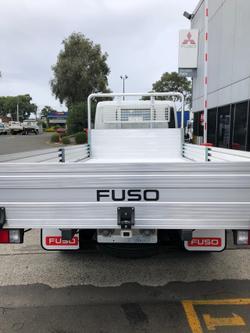 2021 FUSO CANTER 515 ALLOY TRAY TRADESMAN TRUCK White
