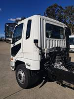 2021 FUSO FIGHTER 1224 AUTO AIR - CAB CHASSIS White