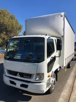 2020 FUSO FIGHTER 1124 AUTO 10 PALLET CURTAINSIDER White