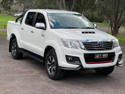 2014 Toyota Hilux Black Limited Edition KUN26R MY14 4X4 Dual Range Glacier White