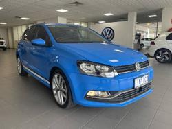 2016 Volkswagen Polo 81TSI Comfortline 6R MY17 BLUE