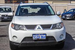 2009 Mitsubishi Outlander LS ZH MY10 4X4 On Demand White