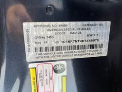 2018 RAM 1500 Laramie DS MY19 4X4 Dual Range Black