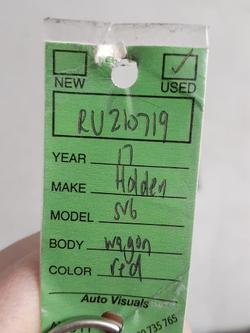 2017 Holden Commodore SV6 VF Series II MY17 Redhot