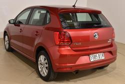 2015 Volkswagen Polo 81TSI Comfortline 6R MY16 Sunset Red