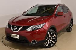 2017 Nissan QASHQAI Ti J11 Magnetic Red