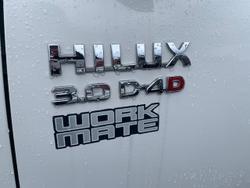 2013 Toyota Hilux Workmate KUN16R MY12 Glacier White