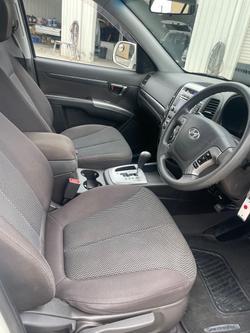 2010 Hyundai Santa Fe SLX CM MY10 4X4 On Demand Vanilla White