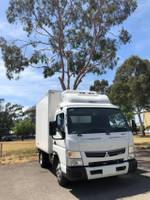 2018 FUSO ***DEMO MAKE AN OFFER*** CANTER 515 WIDECAB MAN FRIDGE TRUCK null null White