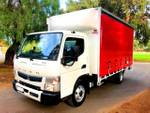 2019 FUSO CANTER 815 WIDE CAB AMT TAUTLINER & LOADER null null null